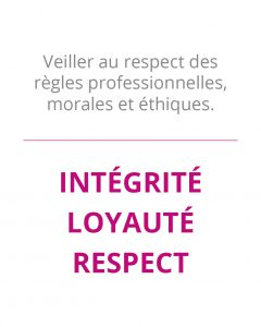 integrite loyaute respect